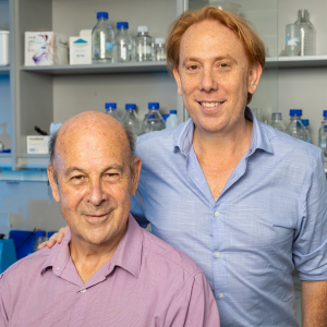 Mileutis founders David Javier Iscovich (right) and Dr. Jose Iscovich (left). (Credit: Eyal Toueg)