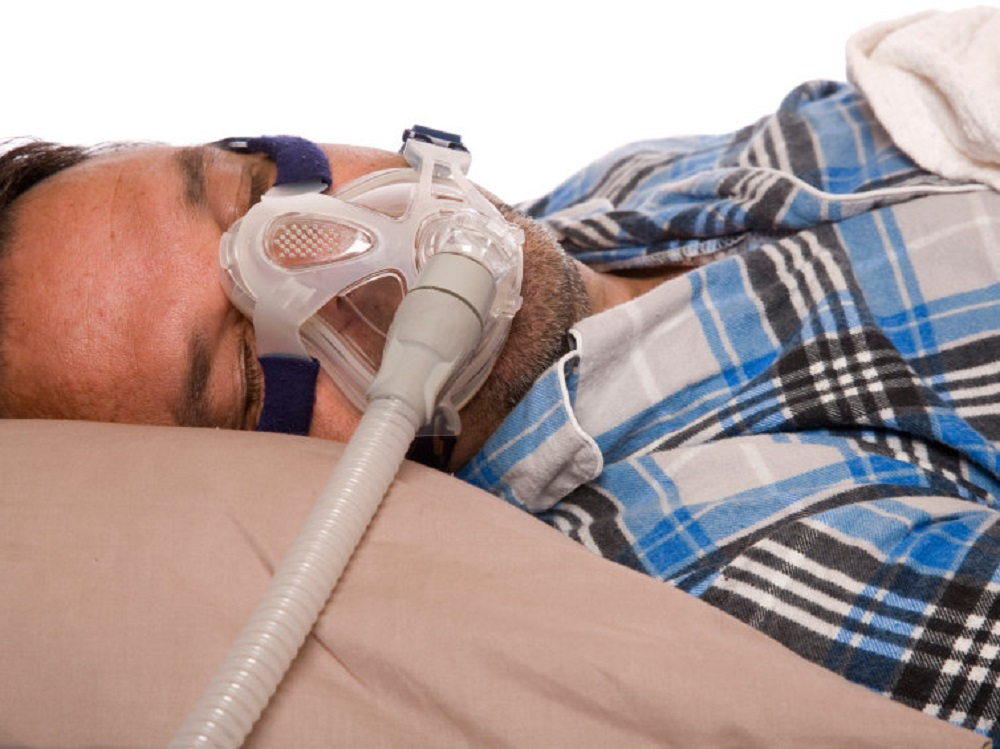 Nasal ventilation mask for sleep apnea (Credit: iStock)